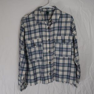 Wild Fable Plaid Flannel Shirt Button Up (S)